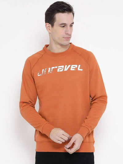 Richlook Sweatshirt Richlook Rust Regular Fit Casual Sweatshirt