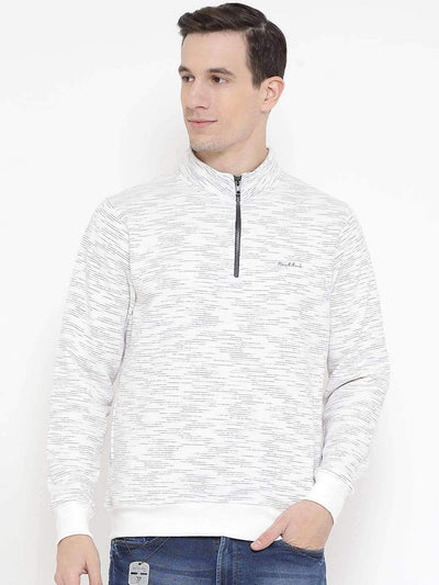 Richlook Sweatshirt Richlook White Regular Fit Casual Sweatshirt