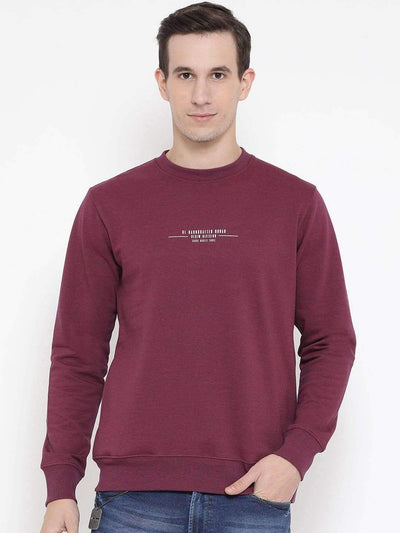 Richlook Sweatshirt Richlook Wine Regular Fit Casual Sweatshirt