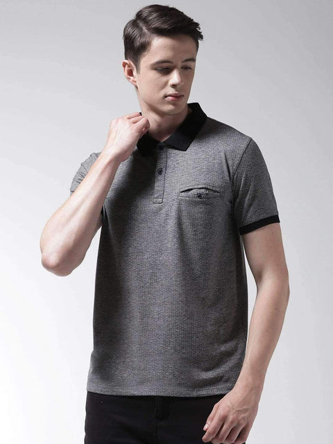 Anthra & Black Polo Tshirt
