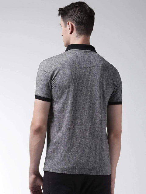 Anthra & Black Polo Tshirt back view
