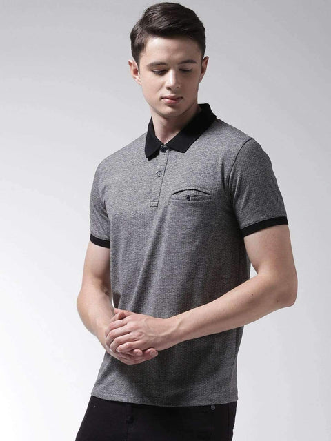 Anthra & Black Polo Tshirt side view