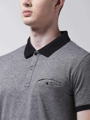 Anthra & Black Polo Tshirt for men