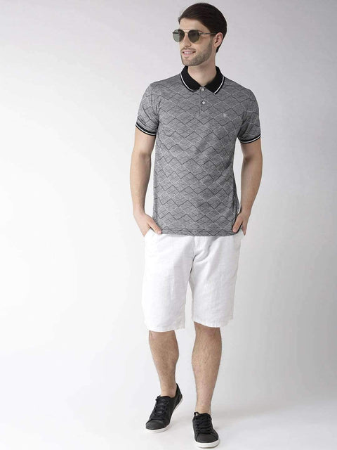 Black & Grey Polo Tshirt full view