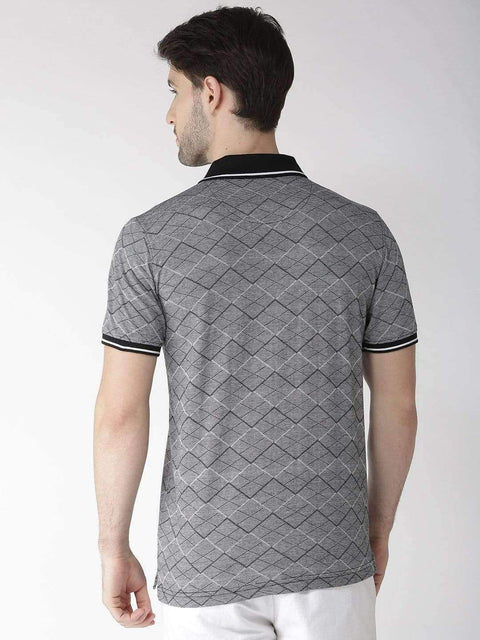 Black & Grey Polo Tshirt back view