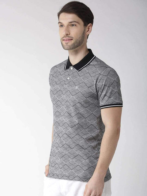 Black & Grey Polo Tshirt side view