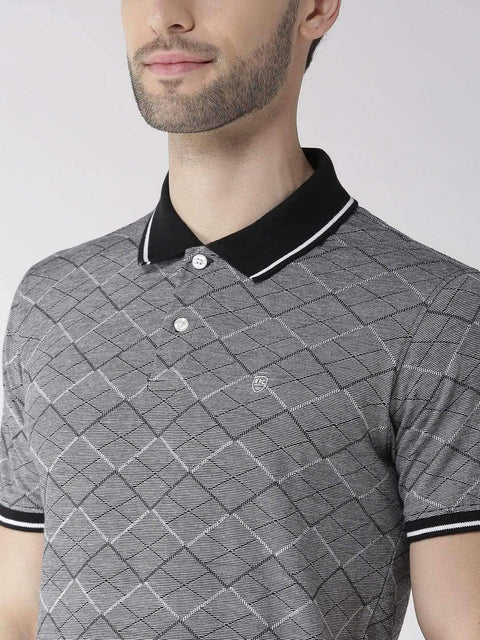 Black & Grey Polo Tshirt close view