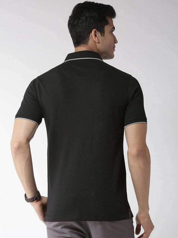 Black Polo Tshirt back view