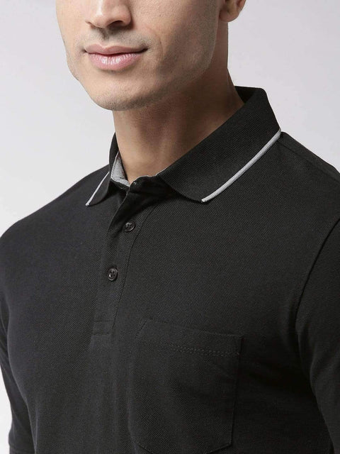 Black Polo Tshirt full view