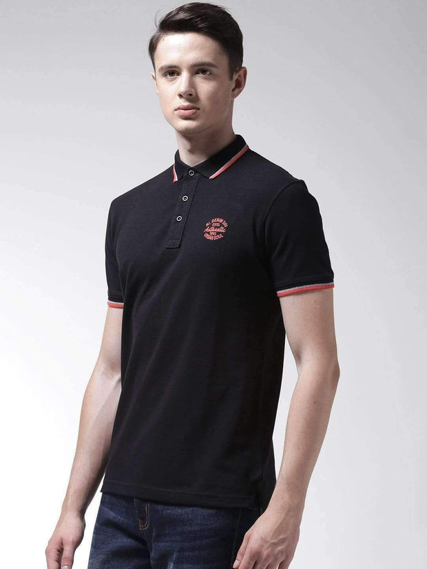 Black Polo Tshirt side view