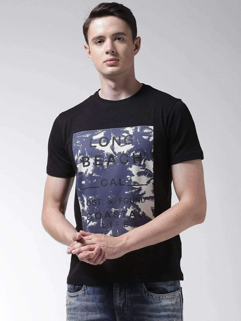 Richlook Black Round Neck Tshirt