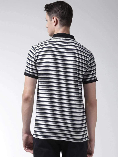Black & White Polo Tshirt back view