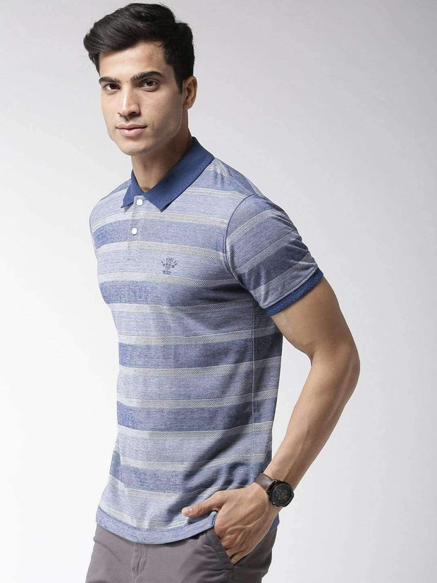 Blue Polo Tshirt side view