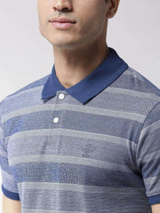 Blue Polo Tshirt close view
