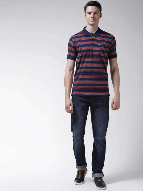 Richlook Blue & Red & White Polo Tshirt
