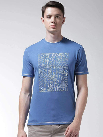 Richlook Blue Round Neck Tshirt