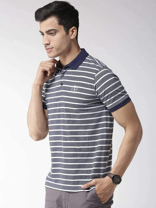 Richlook Blue & White Polo Tshirt