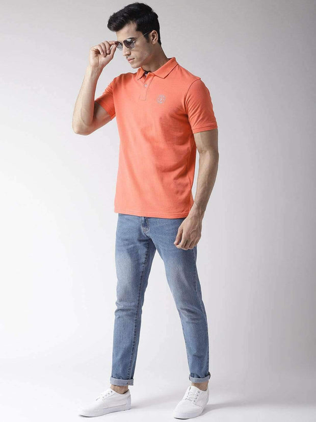 Coral Polo T-Shirt full view