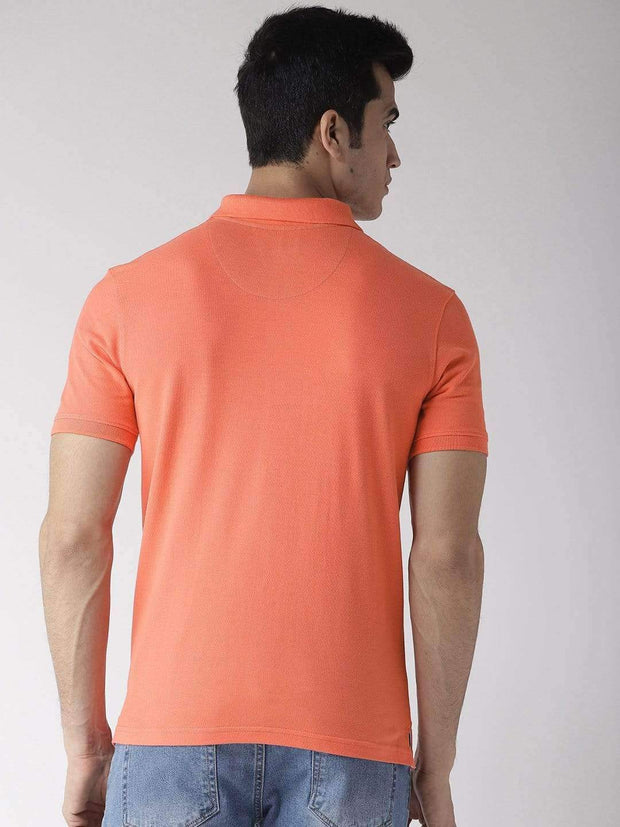 Coral Polo T-Shirt back view
