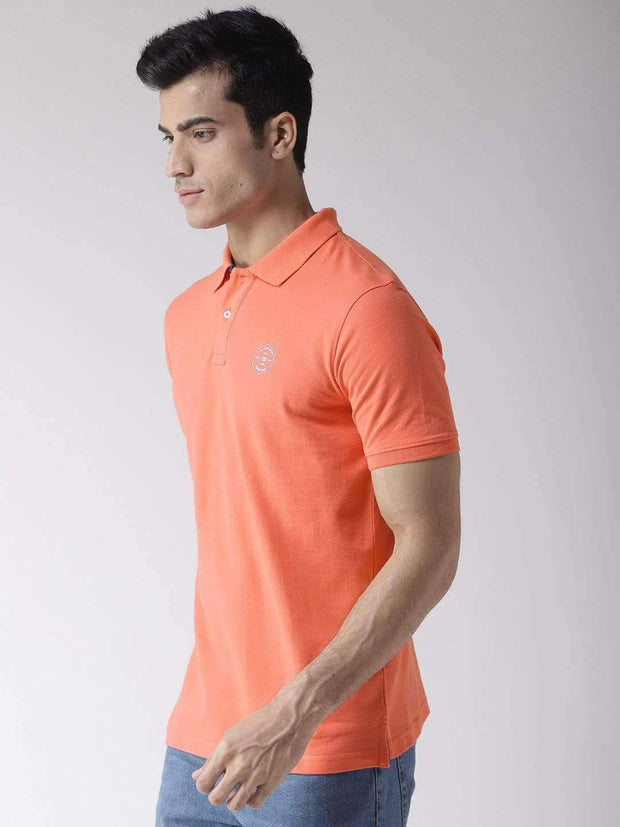 Coral Polo T-Shirt side view