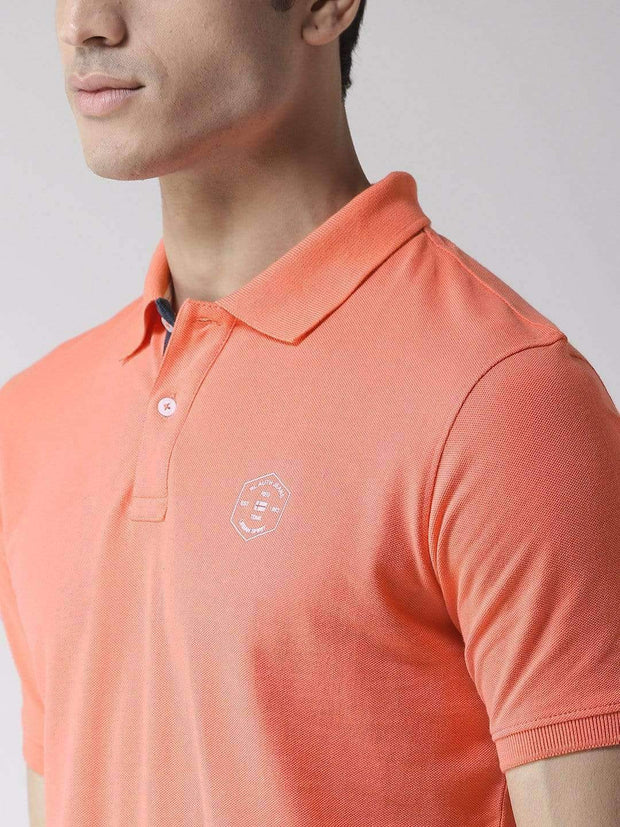 Coral Polo T-Shirt close view