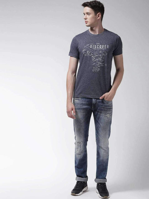 Denim & Jasper Round Neck Tshirt full view