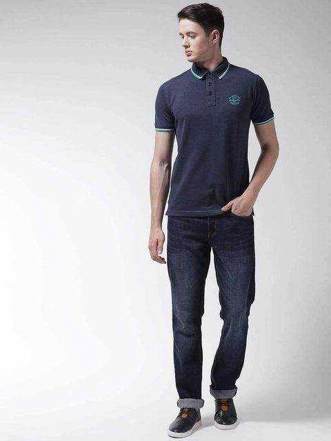 Denim Mix Polo T-shirt for Men