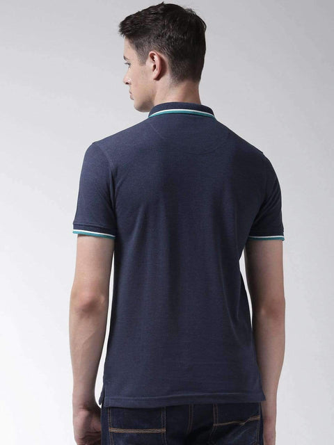 Denim Mix Polo T-shirt back view