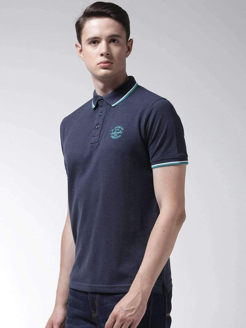 Denim Mix Polo T-shirt side view