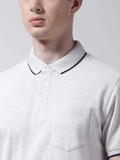 Ecru & Melange Polo T-shirt for men
