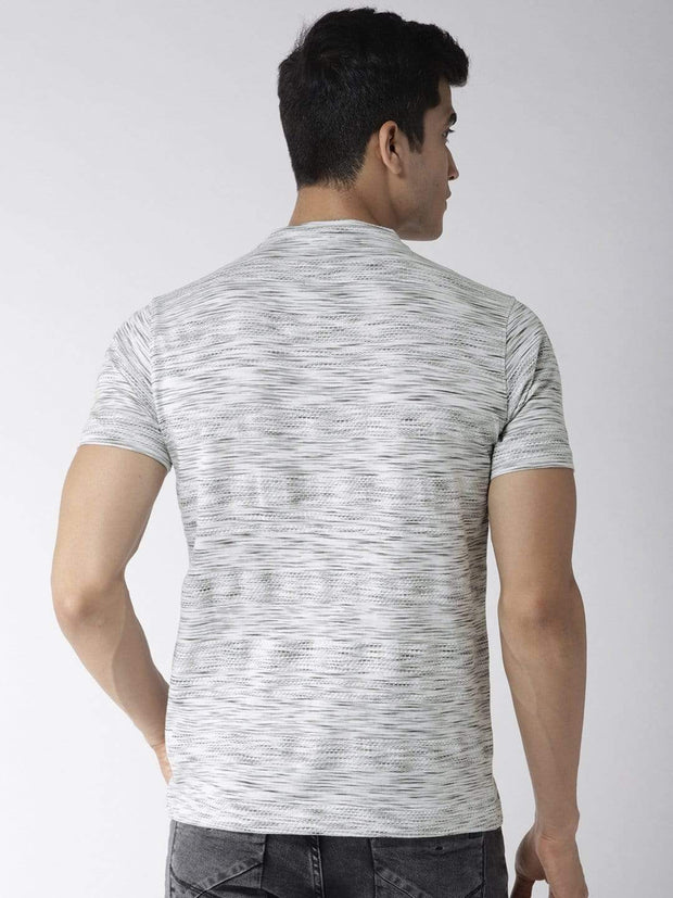 Grey Henley Tshirt back view
