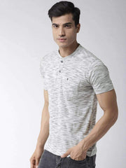 Grey Henley Tshirt side view