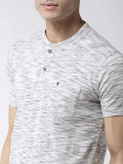 Grey Henley Tshirt close view