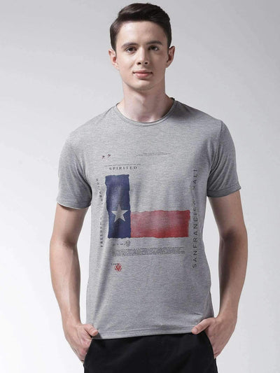 Richlook Grey Round Neck Tshirt