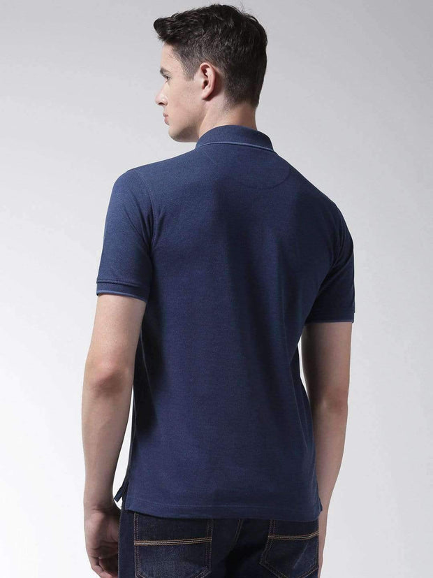 Indigo Polo Tshirt back view