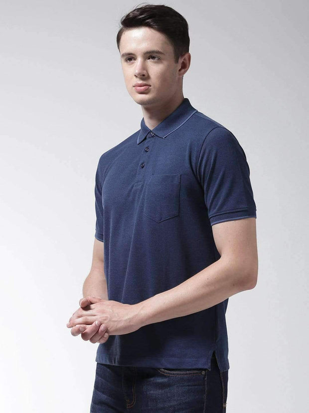 Indigo Polo Tshirt side view