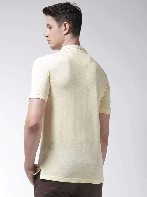 Lemon Polo Tshirt back view