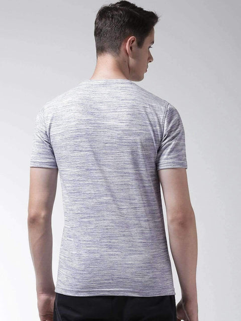 Light Blue Round Neck Tshirt back view