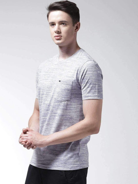 Light Blue Round Neck Tshirt Side View