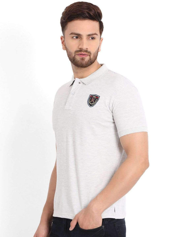 Richlook Light Grey Polo T-shirt
