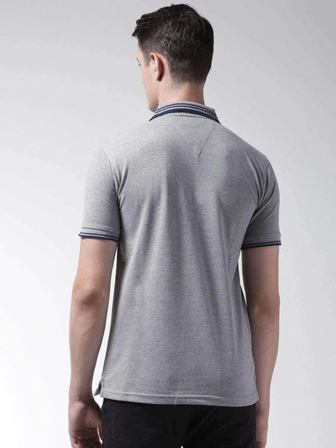 Melange Polo Tshirt back view