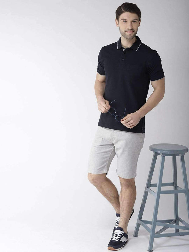 Navy Blue Polo Tshirt full view