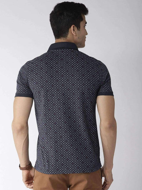 Navy Blue Polo Tshirt back view