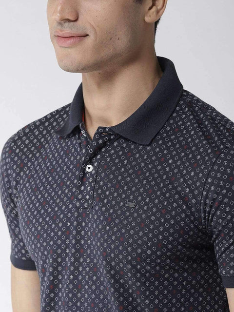 Navy Blue Polo Tshirt close view
