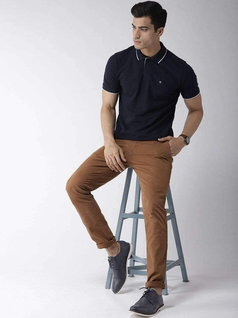 Navy Blue Polo Tshirt for Men