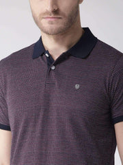 Richlook Navy Blue & Red Polo T-Shirt