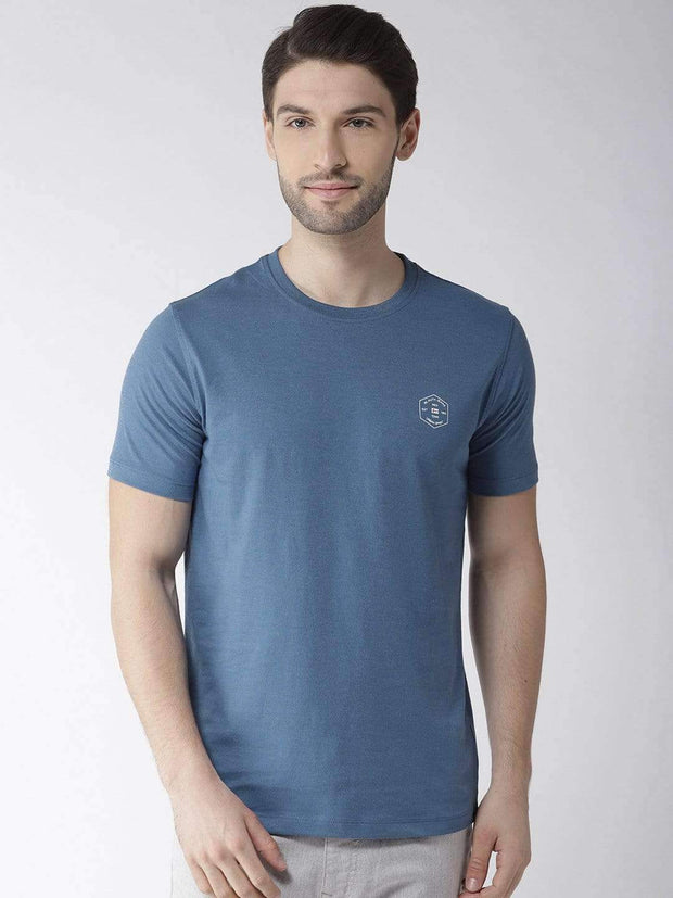 Richlook Navy Blue Round Neck Tshirt