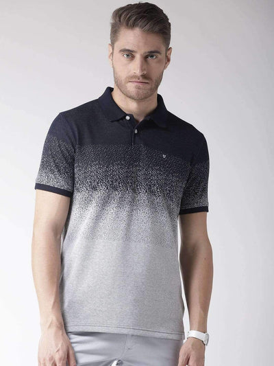 Richlook Navy Grey Polo T-Shirt