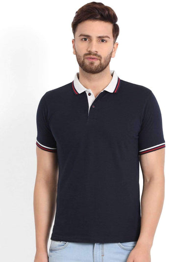 Navy & Grey Polo T-Shirt
