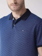 Richlook T-Shirt Richlook Navy Tapesty Blue Polo T-Shirt